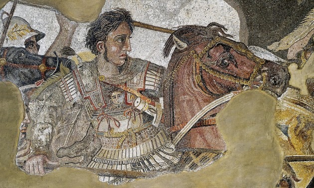 Detail of Alexander the Great mosaic, 1st century CE Roman copy of a Greek wall painting of c. 310 BCE.