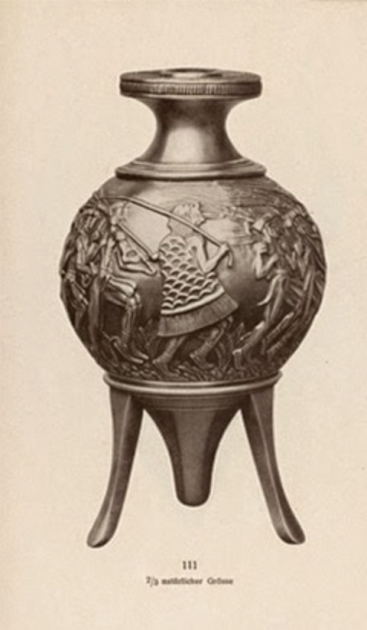 "The Gillierons' restored version of the ""Harvesters' Vase,"" early 20th century."