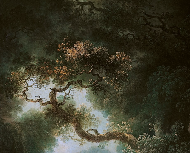 "Fragonard, detail of ""The Swing,"" 1767. Oil on canvas. Wallace Collection"
