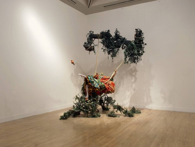 Yinka Shonibare, The Swing (after Fragonard)', 2001. Tate Modern