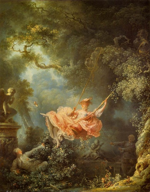 "Fragonard, ""The Swing,"" 1766. Oil on canvas. Wallace Collection"