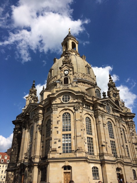 Frauenkirche, Dresden. Original structure completed 1743; restored and rebuilt structure completed 2005.