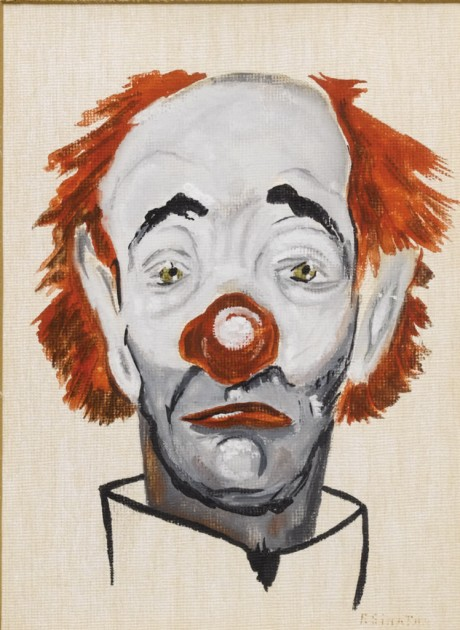 Clown painting by Frank Sinatra, c. 1957. Oil on canvas