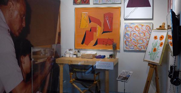 Frank Sinatra in his studio, n.d.