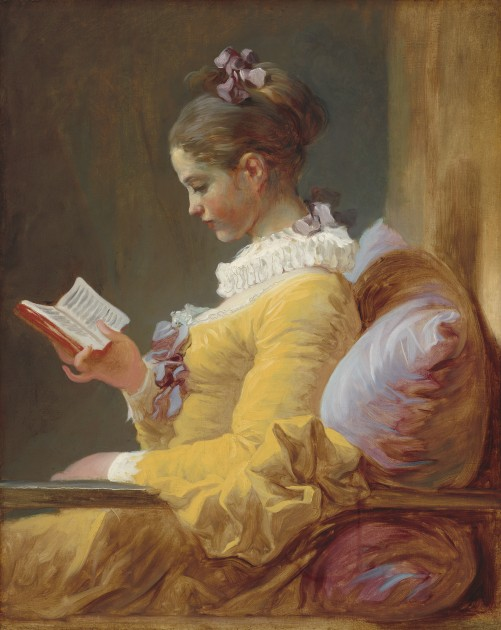 "Fragonard, ""A Young Girl Reading,"" c. 1776. Oil on canvas. National gallery of Art, Washington, DC"