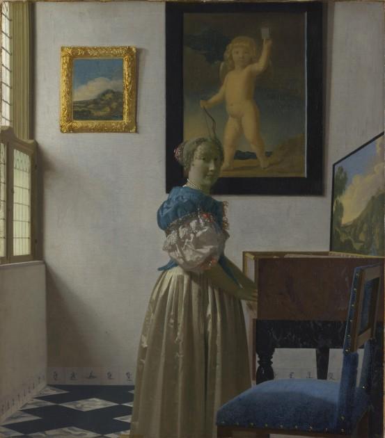 "Vermeer, ""Lady Standing at a Virginal,"" 1670. National Gallery of Art, London"