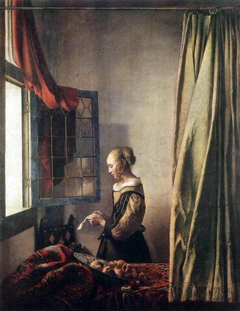 "Vermeer, ""Girl Reading a Letter at a Window,"" c. 1658"