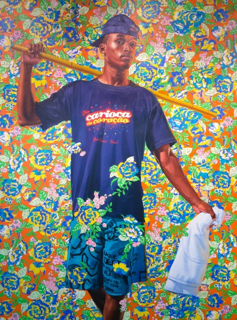 "Kehinde Wiley, ""Indio Cuauhtemoc: The World Stage, Brazil,"" 2017. Oil on canvas."