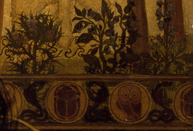 "Detail of plants and railing in Sandys' ""Medea"""