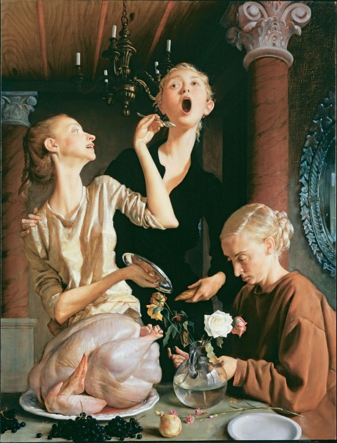 "John Currin's ""Thanksgiving"" and Stretched Figures"