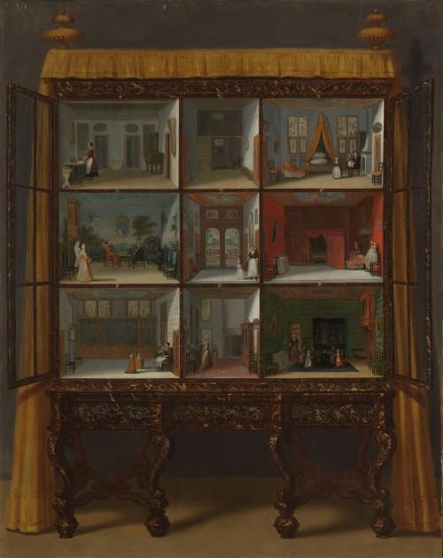 "Jacob Ortman, ""Doll's House of Petronella Oortman,"" c. 1710. Oil on parchment on canvas. 87cm × 69cm. Rijksmuseum"