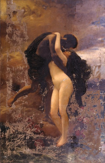 """Lord Frederic Leighton, """"Helios and Rhodes,"""" 1830-1896. Oil on canvas, support 165.8 × 109.9 cm. Tate. Creative Commons License"""